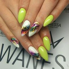 Wakacyjne Paznokcie: TOP 20+ Modnych Inspiracji na Letnie Hybrydy Beautiful Nail Designs, Beautiful Nail Art, Gorgeous Nails, Glam Nails, Cute Nails, My Nails, Nail Art Designs, Design Art, Vacation Nails