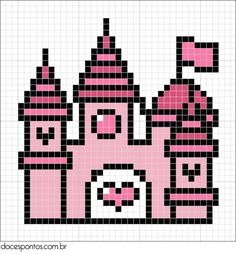 Perler Bead Pattern Disney Characters   Castle / hama bead perler pattern - Bügelperlen by bethina.kristensen ...