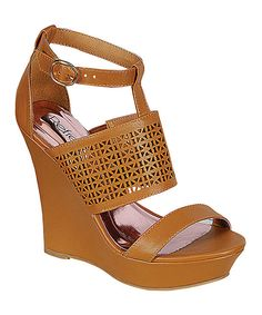 Look at this Camel Carie Ankle-Strap Wedge on #zulily today!