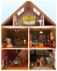 I got the frame of a wooden, un-decorated dollhouse for free and am looking for ideas to decorate it for her...