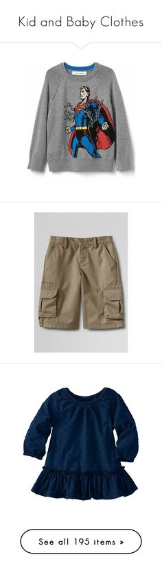 """Kid and Baby Clothes"" by lulugurl98 ❤ liked on Polyvore featuring men's fashion, men's clothing, men's shorts, tan, lands end mens clothing, mens elastic waist cargo shorts, mens elastic waist shorts, mens cargo shorts, mens chino shorts and dresses"