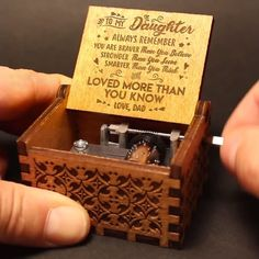 """To granddaughter /""""How Special You are to me/"""" Engraved Wooden Music Box Mode"""