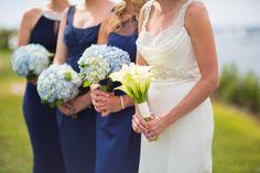 #JohnOrtonFlowersandEvents #HyattRegencyNewport #MStudios #Wedding #NewportRI #NewportWedding #FallWedding #Bride #Bridesmaids #CallaLily #Hydrangea #Blue #Bouquet #Flowers