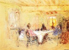 A Family Meal by Edouard Vuillard