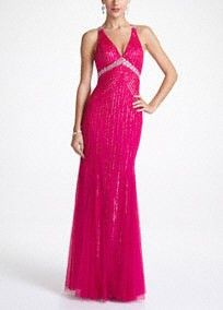 Sleeveless Beaded Prom Gown with X-Back