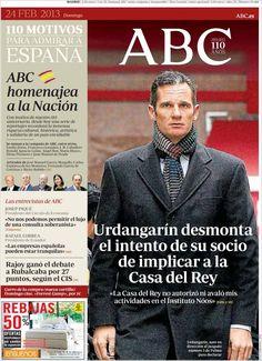 Los Titulares y Portadas de Noticias Destacadas Españolas del 24 de Febrero de 2013 del Diario ABC ¿Que le parecio esta Portada de este Diario Español?