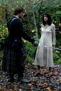 jamie fraser, outlander, and claire beauchamp image