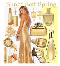 Sunlit Soft Spring by prettyyourworld on Polyvore featuring beauty, NARS Cosmetics, Estée Lauder, Christian Dior, Judy Geib, Allurez, Jimmy Choo and Christian Louboutin