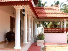 New Design Kerala Style House Plans Courtyard Roads convulse up from the bank into the college alcove of Sri Lanka's Hill Country, an emerald carpeting of billow forest, farmland, rolling hills, Village House Design, Kerala House Design, Bungalow House Design, Village Houses, Kerala Traditional House, Traditional House Plans, Courtyard Design, Courtyard House, New House Plans