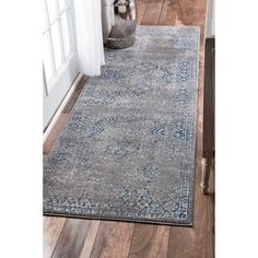 kitchen runner rugs one hole faucet 62 best images runners walkways nuloom traditional distressed grey rug 2 8 x
