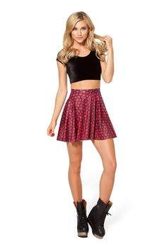Drogon Dragon Egg Skater Skirt by Black Milk Clothing $60AUD
