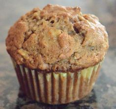 These are my familys favorite muffin, even my husband who doesnt care for baked banana goods. This is the afterschool treat for my daughters. NOTE: Muffin batter should always be mixed by hand; your muffins will be dense and thick if combined with a mi Banana Oatmeal Muffins, Baked Banana, Easy Healthy Banana Muffins, Banana Breakfast Muffins, Coconut Flour Muffins Banana, Banaba Muffins, Almond Flour, Oatmeal Cupcakes, Breakfast Cupcakes