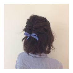 Fishtail braid with bow for the holidays