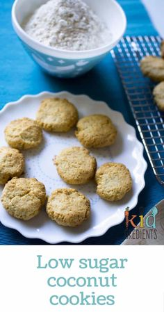 These delicious low sugar coconut cookies are easy to make and freezer friendly, delicious in the lunchbox and perfect for afternoon tea.