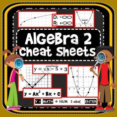 Algebra 2 Cheat Sheets: 11 reference printables from Scaffolded Math and Science on TeachersNotebook.com - (13 pages) - A series of printables covering 11 Algebra 2 topics.