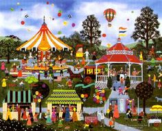 """Jane Wooster Scott 's Limited Edition Print """" Candied Apples and Candy ..."""