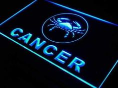 Astrology Zodiac Cancer Neon Sign (LED)