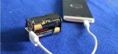 VIDEO: Descubre cómo cargar el celular con baterías...