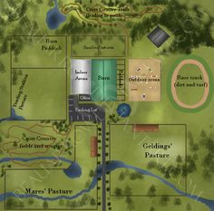 DeviantArt: More Like The Corral Stable Map by pom-happy-my-dog Horse Farm Layout, Barn Layout, Dream Stables, Dream Barn, Minecraft Horse, Horse Barn Designs, Horse Arena, Horse Barn Plans, Horse Ranch