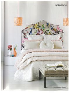 Adore this pic! Love the bed head. Also lazybones flora caramel quilt features in the May edition of House and Garden (we currently have stock of these at Butterscotch)