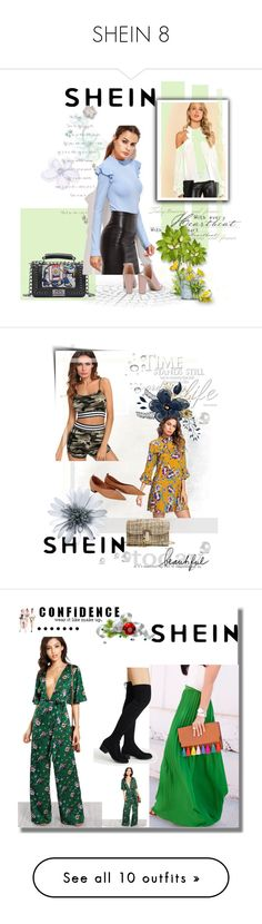 """SHEIN 8"" by women-miki ❤ liked on Polyvore featuring Superga, skirt, Boots, jumpsuit, shop, Bloomingdale's, Laura Mercier, like, shirt and Zimmermann"