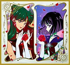 Sailor Pluto & Sailor Saturn by SM Crystal III