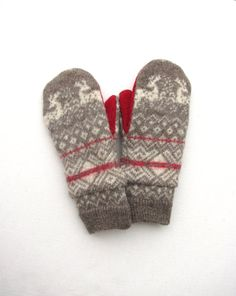 Wool Mittens From Recycled Sweaters Fleece Lined by jmariecreates, $30.00