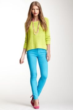 Bright jeans!