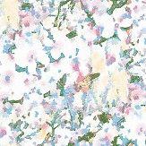 Aire Mellor Blue / Pink foil Wallpaper