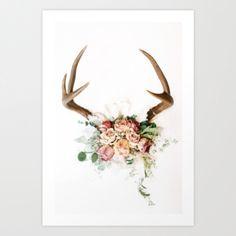 floral antlers   Tumblr