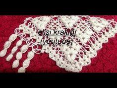 ÇİÇEKLİ PELERİN VE ŞAL YAPILIŞI/DESCRIPTION OF THE CAPE AND SHAWL WITH FLOWERS - YouTube Crochet Shawl Diagram, Crochet Lace Edging, Crochet Chart, Crochet Baby Hat Patterns, Crochet Baby Hats, Crochet Scarves, Best Crochet Hair, Mens Crochet Beanie, Crochet Hat Tutorial