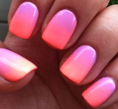 pink and white ombré dip powder nails  nail art