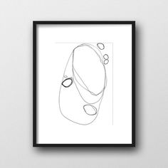Minimalist Art Print Printable Art Black & White by ModPrintNow