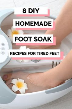 Easy diy foot soak for calluses recipes. 8 easy foot bath recipes that include epsom salt and listerine to get rid of calluses, dry skin, and sore feet. Dry Feet Soak, Homemade Foot Soaks, Foot Soak Recipe, Bath Recipes, Sore Feet, Listerine, Epsom Salt, Dry Skin, Rid