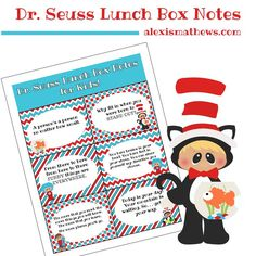 Make lunchtime fun again with these colorful and encouraging Dr. Seuss lunch box notes. Grab them for free from AlexisMathews.com