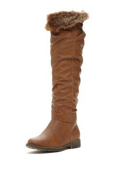 Bucco Lettie Faux Fur Lined Tall Boot on HauteLook