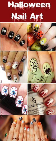 Halloween Nail Art halloween halloween ideas halloween nails halloween nail art