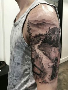 40 landscape tattoo ideas - tattoo motifs - 40 landscape tattoo ideas Informations About 40 Landschafts Tattoo Ideen – Tattoo Motive Pin You c - Natur Tattoo Arm, Natur Tattoos, Body Art Tattoos, Girl Tattoos, Tattoos For Guys, New Tattoos, Montain Tattoo, Wilderness Tattoo, Berg Tattoo