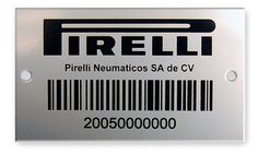 Custom steel barcode labels deliver readability and stand up to the toughest conditions without fading. Metal barcode tags are best for outdoor or high temperature conditions.