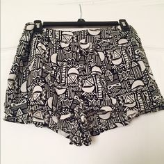 Tribal shorts High waisted tribal shorts. Elastic waist in the back Forever 21 Other