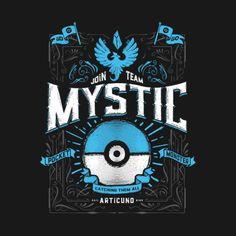 Pokemon GO T-Shirt by Barrett Biggers aka studiomuku. A vintage design inspired by Pokemon GO's Team Mystic. Gotta catch 'em all. Pokemon Go Team Mystic, Mystic Team, T Shirt Pokemon, Pokemon Universe, Digimon, Alter, Game Art, Print Design, Graphic Design