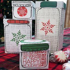Seriously Awesome Printable Mason Jar Gift Boxes