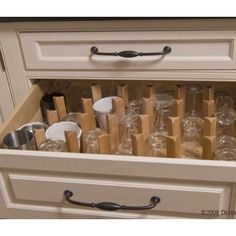 41 ideas kitchen cabinet organization glasses dining rooms for 2019 Kitchen Drawer Organization, Kitchen Drawers, Kitchen Storage, Kitchen Cabinets, Upper Cabinets, Bar Designs, Kitchen Layouts With Island, Kitchen Island, Glass Shelves In Bathroom