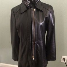 ❤️ Coach Leather Jacket Beautiful dark Mocha Leather that is as soft as butter. Zipper front and beautiful detailing front and back. Like new. No defects at all. Zippers at the cuff. Coach Jackets & Coats