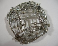 Vintage Signed BSK Abstract Rhodium Plated / Rhinestone Brooch - Edit Listing - Etsy