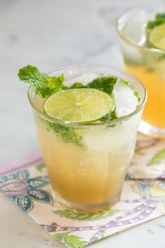 Classic Mojito Cocktail - With fresh lime, mint and sugar.
