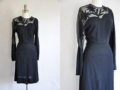 robe de cocktail vintage des années 40 / 40 s robe par seaofvintage