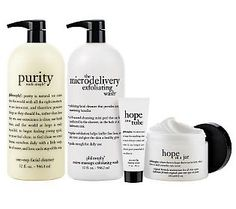 philosophy has fabulous skin care products. I love the face wash, exfoliating wash, and the miracle worker moisturizer. The facial peel is pretty incredible top