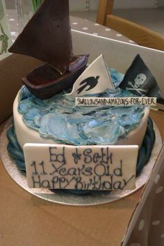 Birthday Ideas, Birthday Parties, Birthday Cake, Arthur Ransome, Army Cake, Swallows And Amazons, Party Themes, Party Ideas, Summer Fair