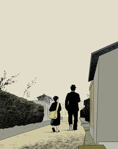 """There Was a Father""  cover illustration for dvd  The Criterion Collection, 2010  Adrian Tomine"